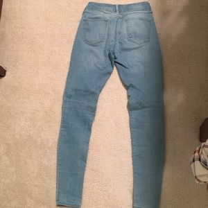 Decree Jeans - Light Wash Blue Skinny Jeans NO rips